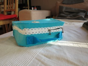 Filztasche Seite mit Spitzenreißverschluss