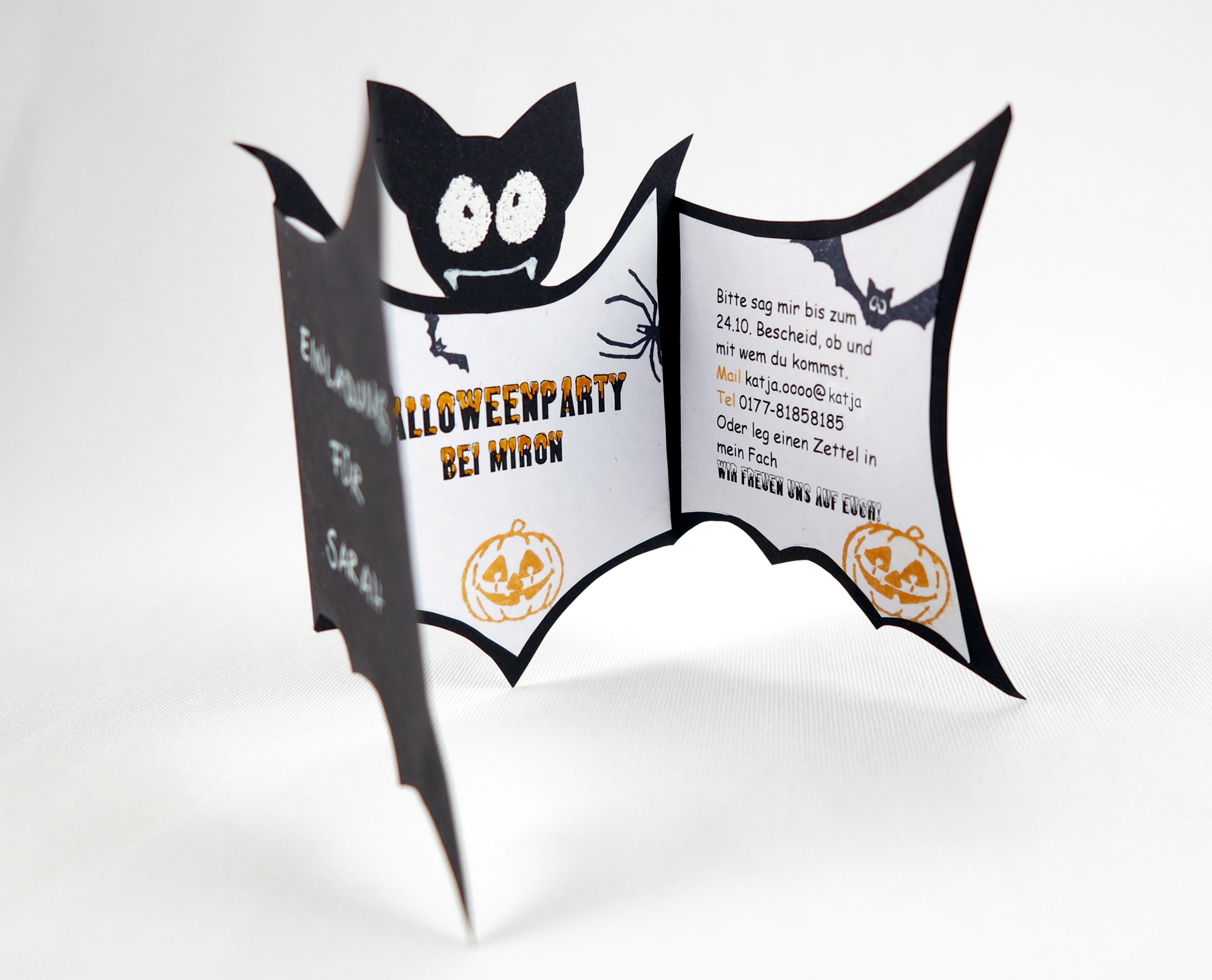 ... Party Einladungen Ideen Auf Pinterest. Halloween | Bastelperli.  Halloween Bastelperli
